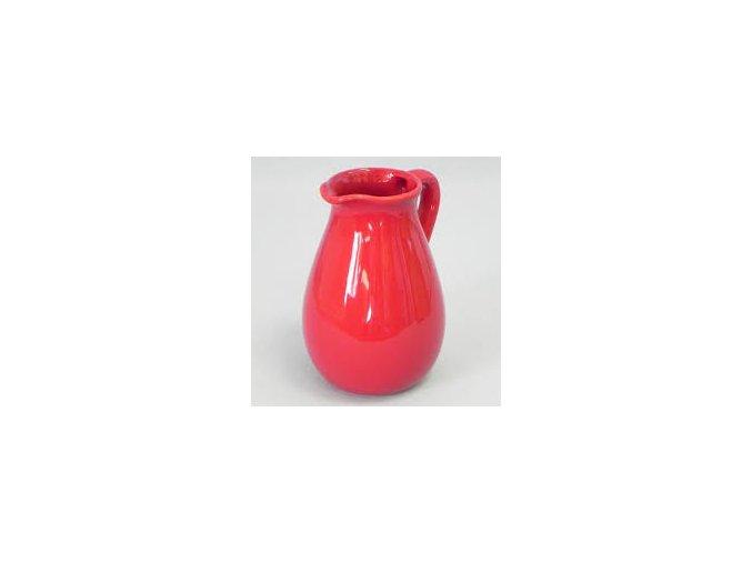 dzban keramika 14x12,4x185cm cerveny