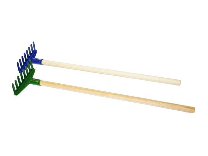 Hrábě dětské kovové 60cm