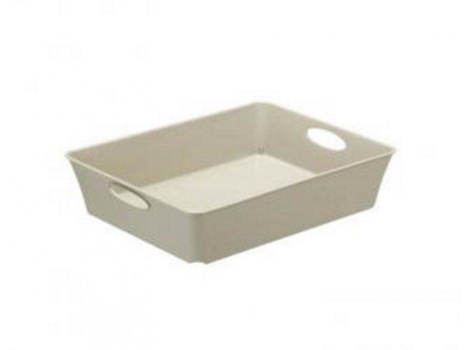 Košík plný Rotho 26,4x21,2x6cm šedá