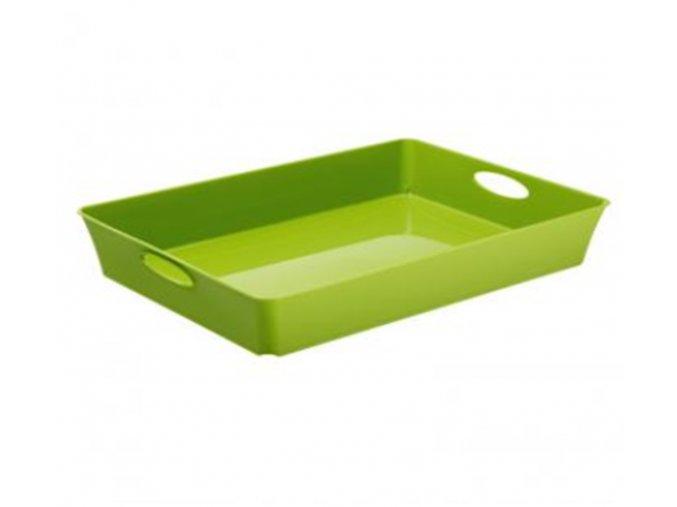 Košík plný Rotho 37,5x26,6x6cm zelená
