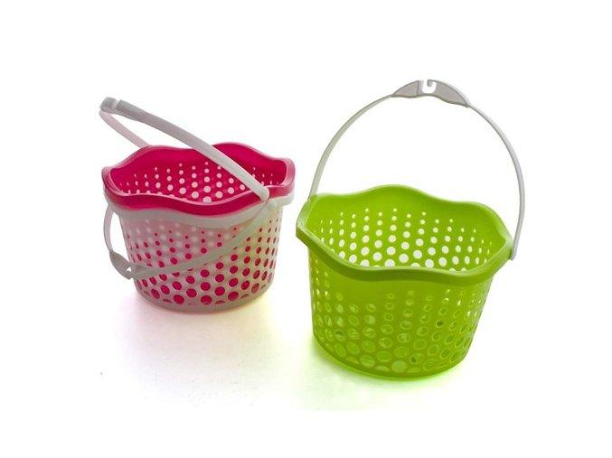 Košík závěsný 19 cm (Vyberte si barvu zelená)