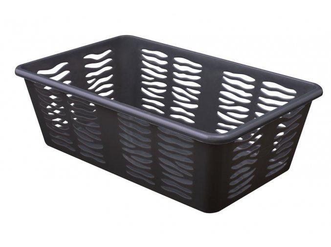 Košík Zebra 25x15,8x8cm antracit