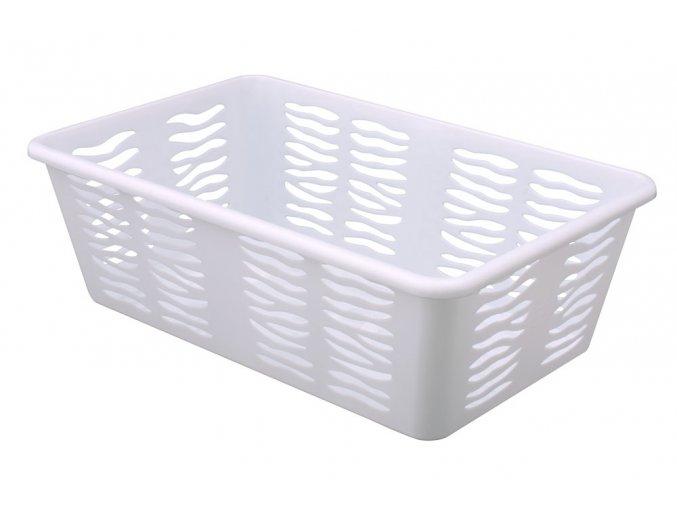 Košík Zebra 25x15,8x8cm bílá