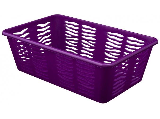 Košík Zebra 25x15,8x8cm fialová
