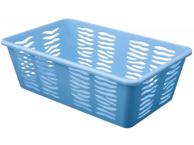 Košík Zebra 25x15,8x8cm modrá