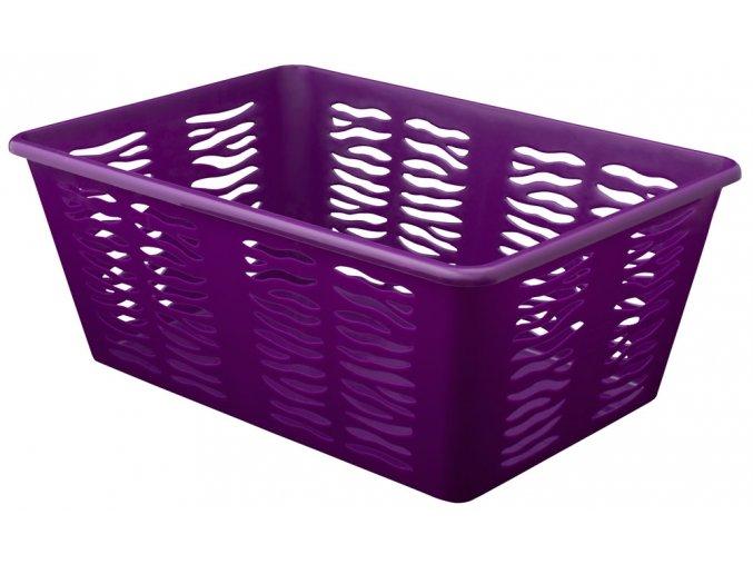 Košík Zebra 36x25x14cm fialová