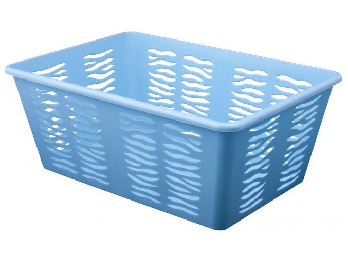 Košík Zebra 36x25x14cm modrá