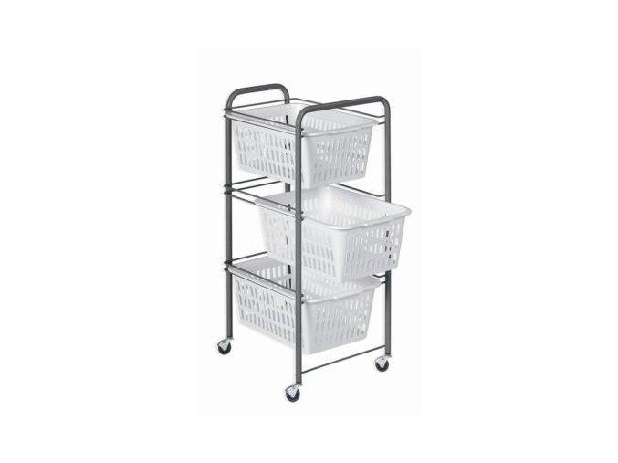Regál kovový 3 košíky