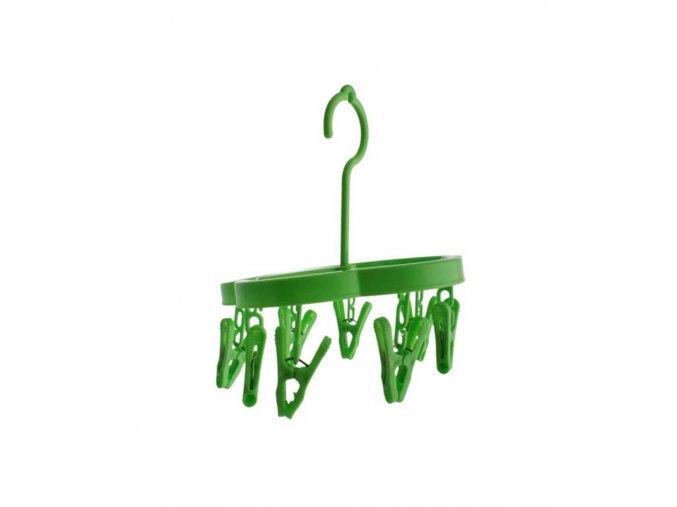 Sušák na prádlo s 8 kolíčky (Vyberte si barvu zelená)