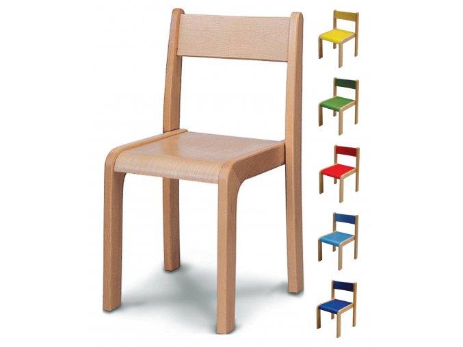 Židle stohovací bez opěrek (Vyberte si barvu žlutá, Výška sedu 45 cm)