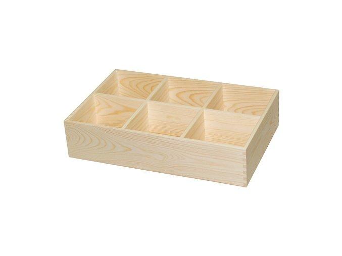 Třídící box 6 přihrádek vyšší