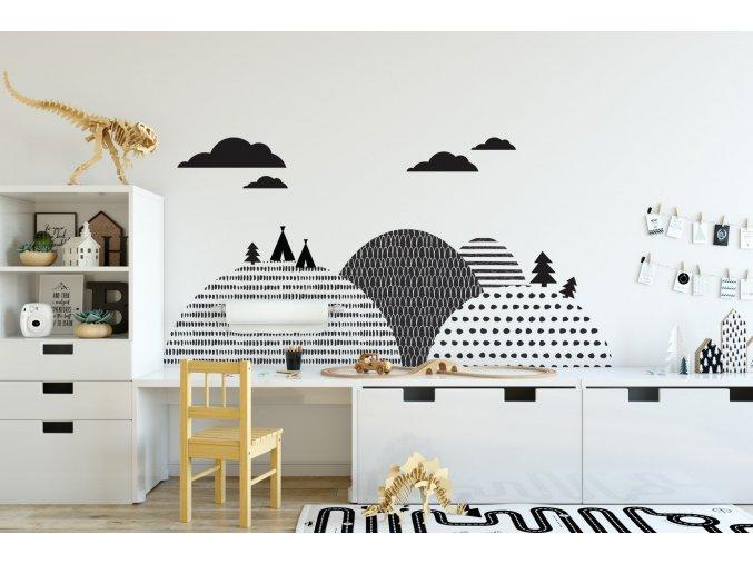 Dekorace za postel DEKORNIK - Hory Skandinávské