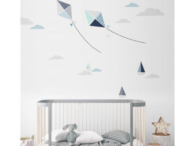 Dekorace na zeď  DEKORNIK - Létající draci 50 x 115 cm DEKO.N.Z99.009