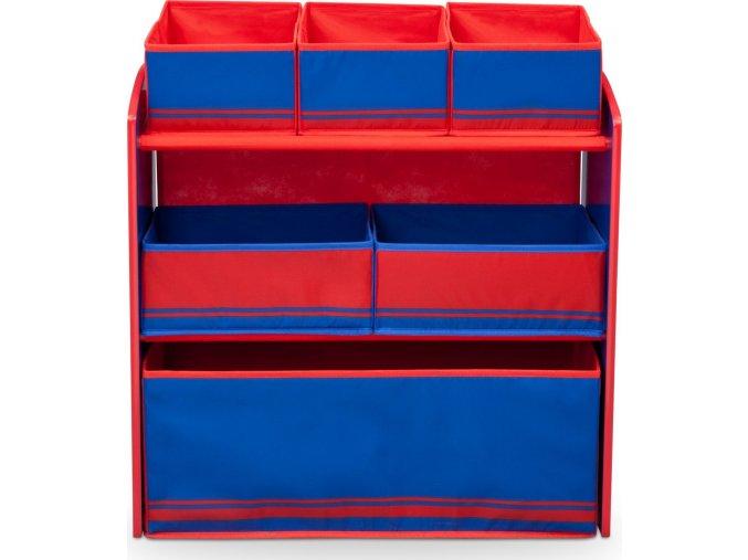 Organizér na hračky modro/červený