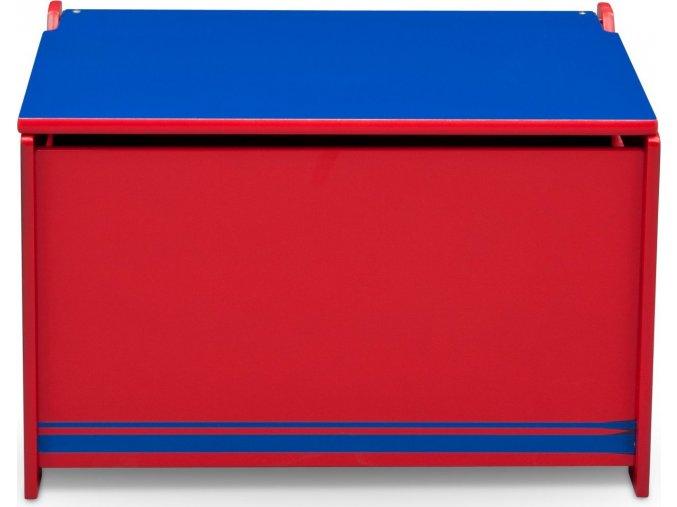 Dřevěná truhla - modro/červená
