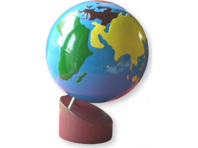 Glóbus - barevné kontinenty