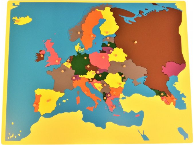 Puzzle - mapa Evropa - bez rámečku