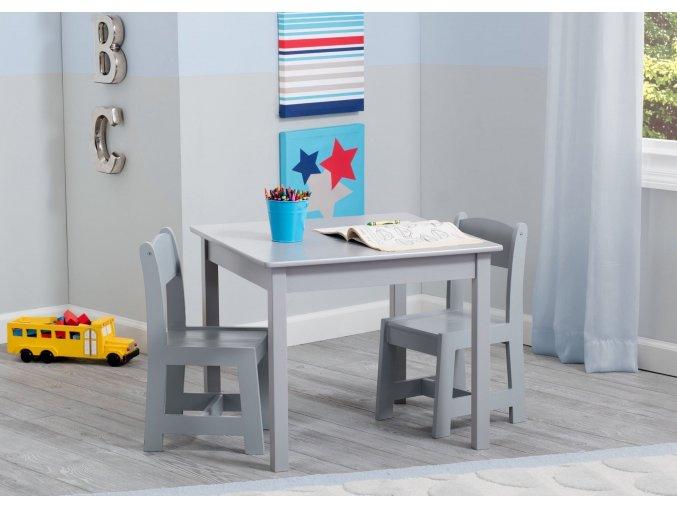Dětský stůl s židlemi šedý grey TT89601GN-026-EU