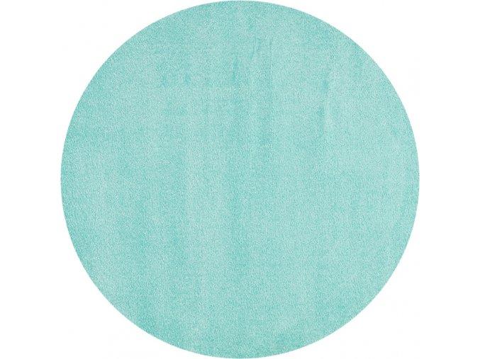 Dětský kulatý koberec mátový