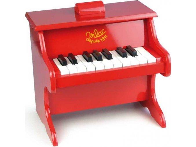 Klavír červený