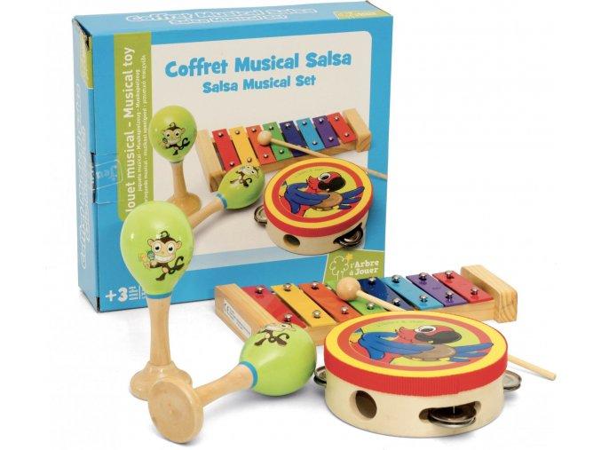 Dřevěný hudební set Salsa Jeujura