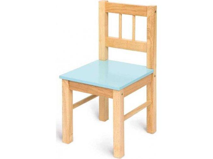 Dětská dřevěná židle - modrá
