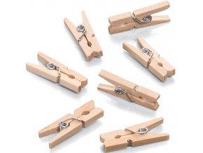 Dřevěné mini kolíčky 10ks