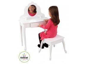 Kosmetický stoleček s židličkou dětský