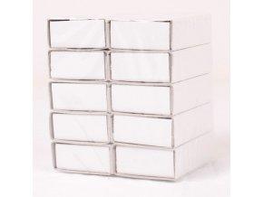 Krabičky zápalkové bílé 10ks