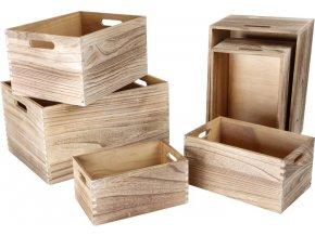Sada dřevěných bedýnek 6ks