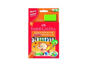 Trojhranné pastelky ECO Jumbo 12ks + ořezávátko Faber-Castell