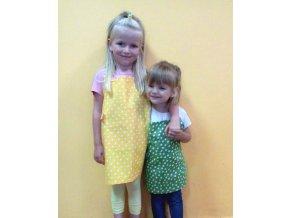 Zástěrka dětská maxi 4-7let žlutá
