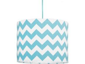 Textilní závěsná lampa Cik Cak Mini - tyrkysová