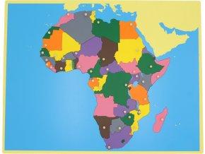 Puzzle - mapa Afrika - bez rámečku