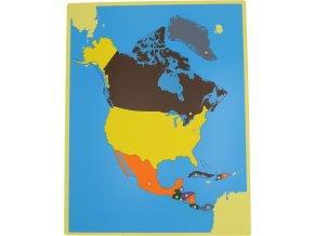 Puzzle - mapa Severní Amerika - bez rámečku