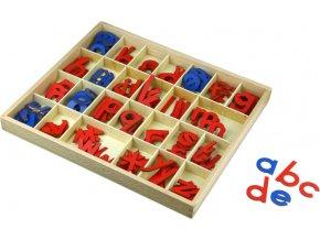 Malá pohyblivá abeceda, dřevěná