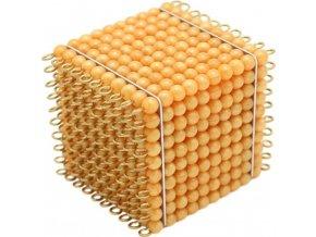 Zlatá perlová tisícová krychle