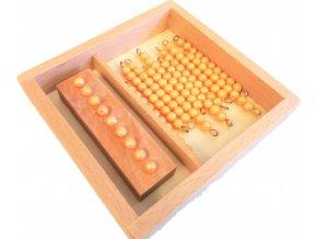 Perlové řetězy pro desítkovou tabulku