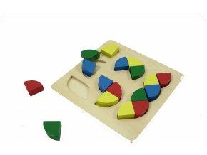 Různobarevné cihly, různé tvary