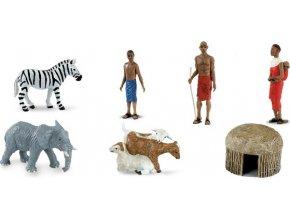 Designerská Tuba - Africká vesnice
