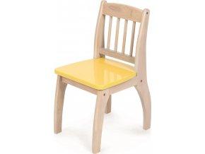 Tidlo dřevěná židlička Junior žlutá