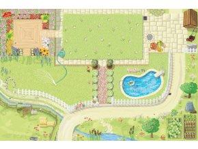 Hrací koberec PLAYMAT zahrádka 150x100 cm