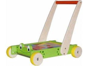 Vozík s kostkami a madlem - Žába