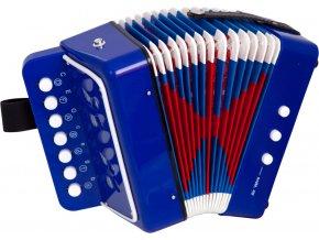 Bino Tahací harmonika modrá