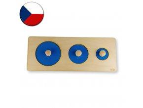 vkladacka montessori 3 kruhy