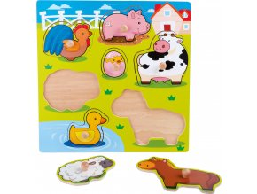 Dřevěvé puzzle Veselá farma