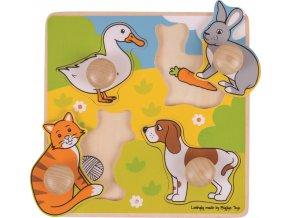 Vkládací puzzle Domácí zvířátka