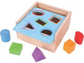 Vkládací krabička s tvary Bigjigs Baby