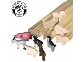 Dřevěné profily - Zvířata ze statku
