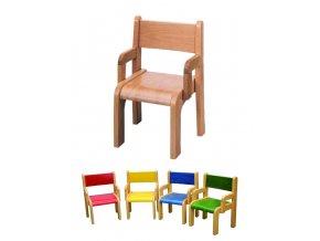 Židle s opěrkami (Vyberte si barvu žlutá)